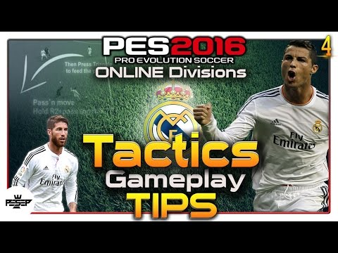 PES 2016  Gameplay Tips, Attacking Tutorial (Real Madrid Online Divisions)
