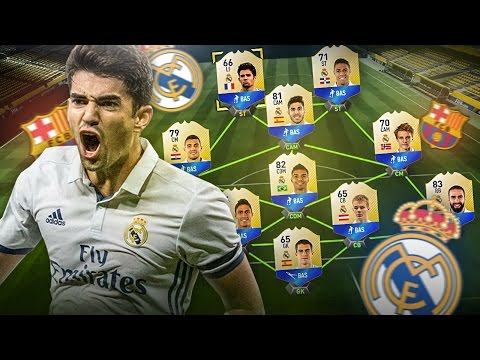LITTLE ZIDANE AND THE YOUNGEST EVER REAL MADRID EL CLASICO SQUAD! FIFA 17 ULTIMATE TEAM