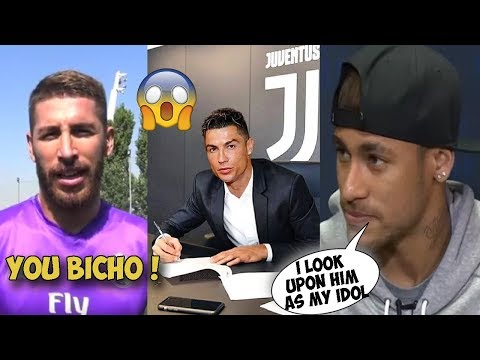 Players React as Ronaldo Leaves Real Madrid to Joins Juventus for €100 million