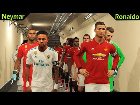 RONALDO (Man United) vs NEYMAR (Real Madrid) | 2 Free Kick Goal C.Ronaldo | PES 2018