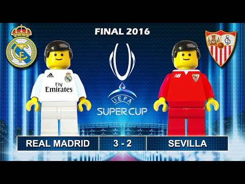 Uefa Super Cup 2016 • Real Madrid vs Sevilla 3-2 • goal highlights Lego Football film Final 2016