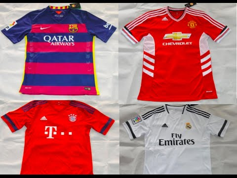 NEW 2016 Season Soccer KITS -MADRID, BARCA, BAYERN, MANCHESTER UNITED, BAYERN-