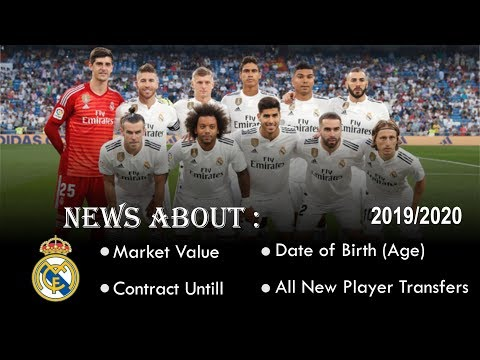 Real Madrid » Squad 2019/2020 (Age●Contract until●Market value) #FOOTBALL SQUAD
