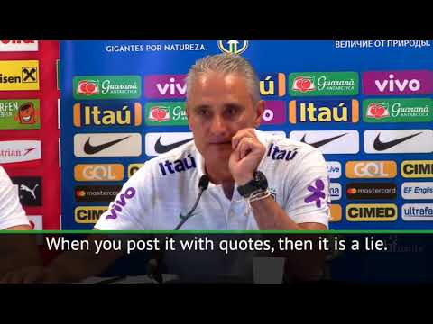 Brazil head coach Tite angrily dismissed Real Madrid links