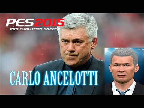 PES 2015 | ANCELOTTI FACE EDIT TUTORIAL | MANAGERS