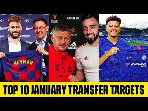 TOP 10 BIGGEST JANUARY TRANSFERS TARGETS 2020😱| CONFIRMED 2020 TRANSFERS SANCHO FERNANDES &  NEYMAR