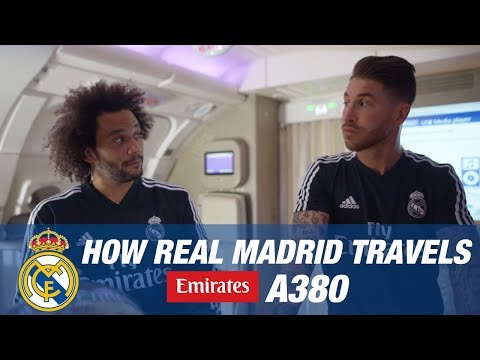 MARCELO, BALE, RAMOS and their teammates | FUNNY MOMENTS Emirates A380!