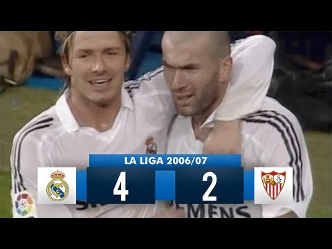 Real Madrid 4-2 Sevilla – La Liga 2005/2006 (15/01/2006) – Full Match Highlights