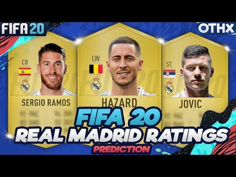 FIFA 20 | Real Madrid Player Ratings Prediction w/ Hazard, Jovic, Ramos, Bale, Rodrygo @Onnethox