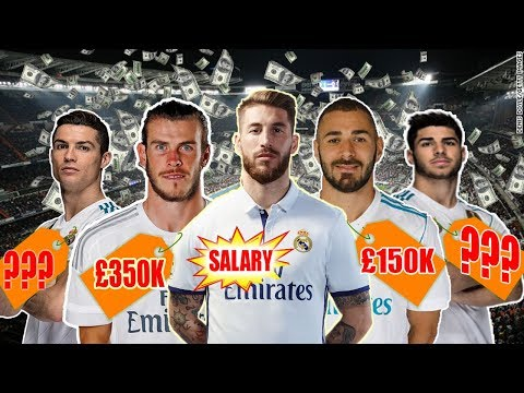 Real Madrid Player Salaries & Weekly Wages 2018 – Ronaldo, Bale Ramos, Benzema, Asensio
