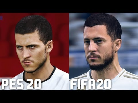 FIFA 20 vs PES 2020 – Real Madrid Player Faces Comparison