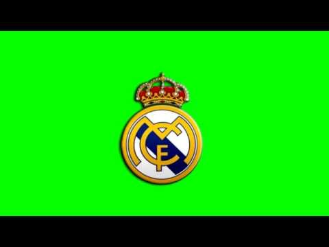 real madrid logo green screen