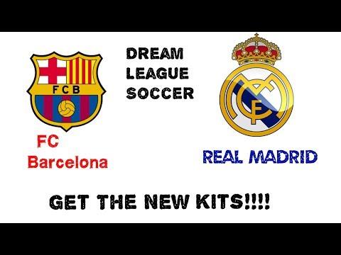 Dream league soccer kits 2017/18 Barcelona,Real Madrid etc.