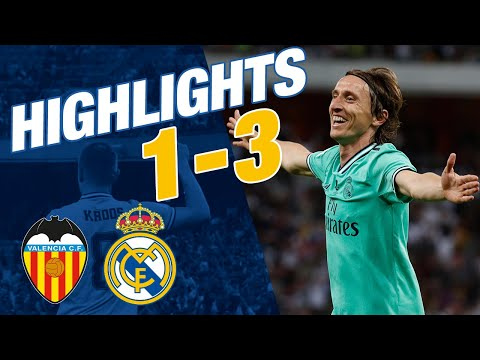 GOALS AND HIGHLIGHTS   Valencia 1-3 Real Madrid   Spanish Super Cup