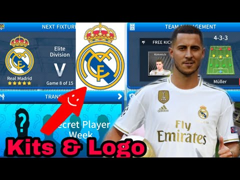 How To Make Real Madrid Team Kits & Logo 2019/2020 | Dream League Soccer 2019