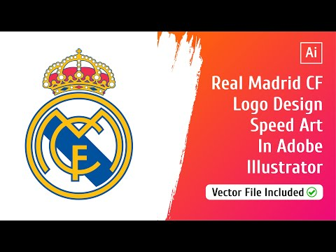 Real Madrid FC Logo Design Speed Art In Adobe Illustrator | Club Logos | Emtode Vlogs | 013