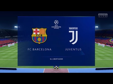 FIFA 19 BARCELONA VS JUVENTUS XBOX ONE S FULL MATCH GAME PLAY IN HD