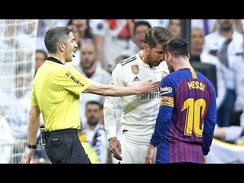 Real Madrid vs Barcelona: Lionel Messi SQUARES UP to Sergio Ramos, he is FURIOUS