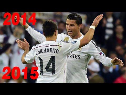 Los 9 goles de Chicharito con el Real Madrid 2014/2015 1080i