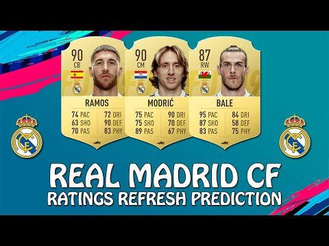 FIFA 19 | REAL MADRID CF RATINGS REFRESH PREDICTION | w/ Modric, Ramos & Bale
