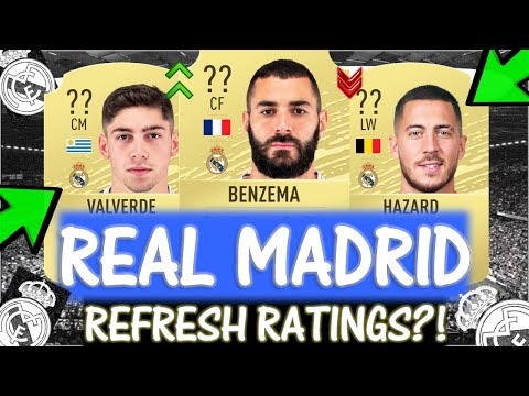 FIFA 20 REAL MADRID REFRESH RATINGS PREDICTIONS!! FT. BENZEMA, VALVERDE, HAZARD ETC… (FIFA 20)