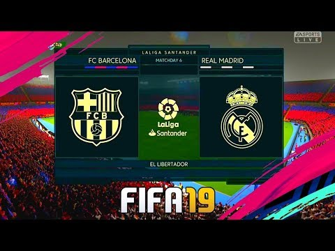 Barcelona Vs Real Madrid 1 hour Gameplay 4K PS4 ► FIFA 19 PS4/PS3 Gameplay