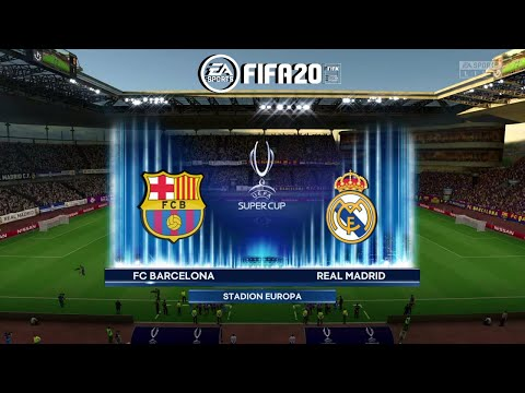 FIFA 20 Super Cup Final Real Madrid VS Barcelona FIFA 2020 PS4 Gameplay
