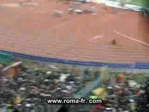 Gol Mancini Roma Real Madrid curva sud
