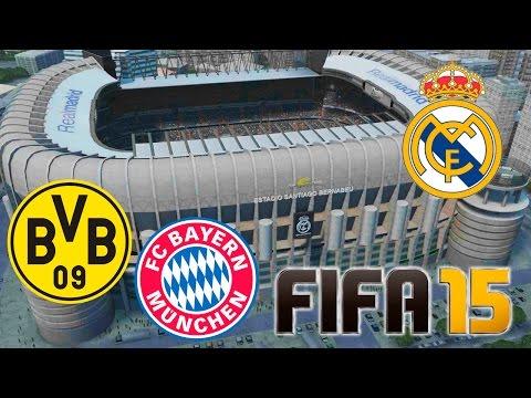 Real Madrid – Bayern Munich & Borussia Dortmund | FIFA 15 Amistosos Online