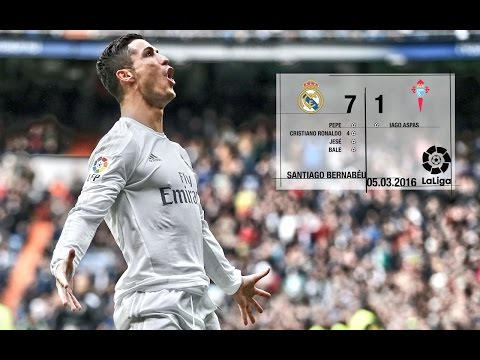 Real Madrid 7-1 Celta (La Liga 2015/16, matchday 28)