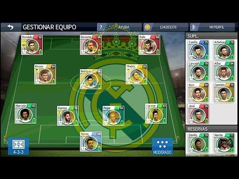 DESCARGAR LA PLANTILLA DE REAL MADRID CF PARA DREAM LEAGUE SOCCER 16 + MILLONES DE MONEDAS MOD