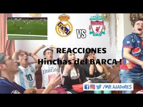 REACCIONES HINCHAS DEL BARCA ! Real Madrid vs Liverpool (3-1)I FINAL Uefa Champions League