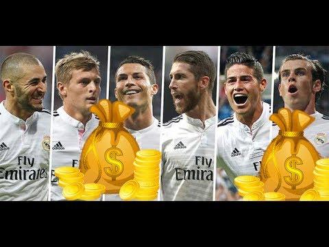 Real Madrid Players Salaries 2017 HD II رواتب لاعبي ريال مدريد