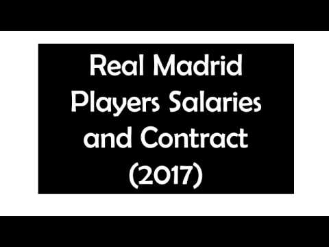 Real Madrid salaries and contract