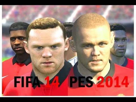 FIFA 14 vs PES 2014 Faces – Manchester United (Face Comparison)