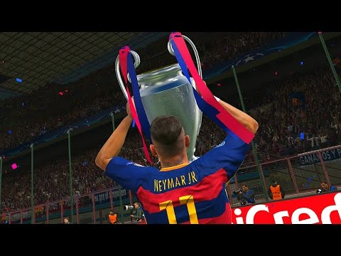 PES 2016 – UEFA Champions League Final – Barcelona vs Real Madrid (Cristiano Ronaldo, Messi, Neymar)