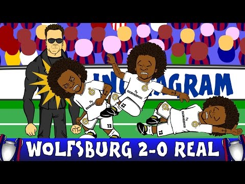 Wolfsburg vs Real Madrid 2-0 FOOTBALLERS REACT (UEFA Champions League 2016 Parody)