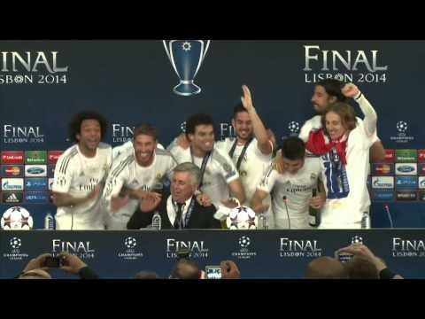 Real Madrid Players Ambush Carlo Ancelotti Press Conference