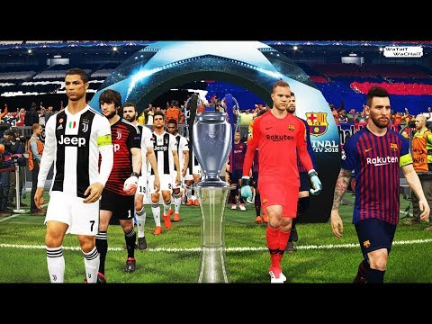 UEFA Champions League Final 2018/2019 ( FC BARCELONA vs JUVENTUS FC ) PES 2018 Gamelay PC