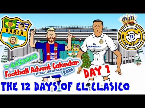 El Clasico – 12 Days of Xmas! BARCELONA vs REAL MADRID 1-1 2016 (Day 1 Football Advent Calendar)