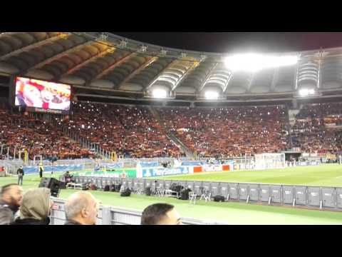 Anthem Hymne – 70.000 – AS Roma vs. Real Madrid – 17.02.2016 – LIVE