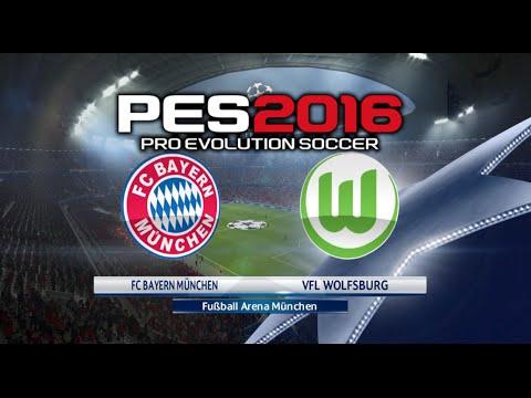 PES 2016 – FC BAYERN MÜNCHEN vs VFL WOLFSBURG Gameplay(German Commentary)