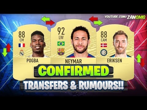 FIFA 20 | NEW CONFIRMED TRANSFERS & RUMOURS!! 😱🔥 | FT. POGBA, NEYMAR, ERIKSEN…etc