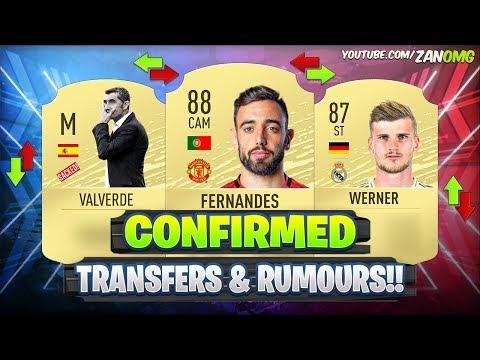 FIFA 20 | NEW CONFIRMED TRANSFERS & RUMOURS!! 😱🔥 | FT. BRUNO FERNANDES, VALVERDE, WERNER…etc