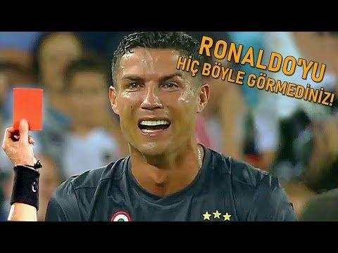 Ronaldo Çıldırdı! Kırmızı Kart Sonrası Kendini Yerden Yere Vurdu,Sevenlerini Üzdü (Juve-Valencia)
