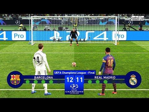 PES 2019 | Barcelona vs Real Madrid | Final UEFA Champions League (UCL) | Penalty Shootout