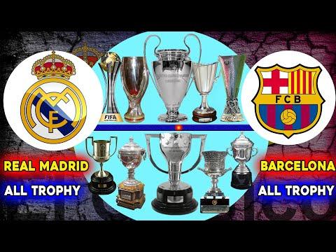 🏆Real Madrid Vs Barcelona Head To Head All Trophies 🏆 Barcelona Vs Real Madrid Total Trophies 🏆
