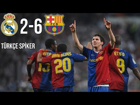 TARİHTE BUGÜN: Real Madrid 2-6 FC Barcelona | 2 Mayıs 2009 | Türkçe Spiker • HD