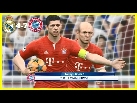 PES 2017 | REAL MADRID VS BAYERN MUNICH | UEFA Champions League Quarter Final | Gameplay PC