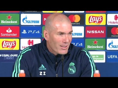Zinedine Zidane & Sergio Ramos Pre-Match Press Conference – Real Madrid v Man City -Champions League